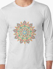 Mandala color 1 Long Sleeve T-Shirt