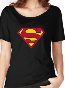 SUPERMAN BLACK SUIT 2016 Women's Relaxed Fit T-Shirt