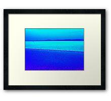 Sky blue, sea blue Framed Print