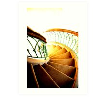 The Light on the Fragment of the Staircase Art Print