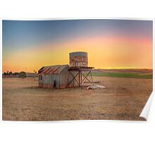 Sunset on Farmland, Kanmantoo, Adelaide Hills Poster