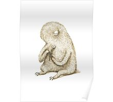 Sloth With Flower Poster