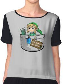 """Zelda """"Will Cut Grass For Rupees"""" Chiffon Top"""