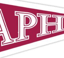 A Phi Pennant Flag Sticker