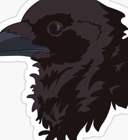 Black and Purple Bran Raven Sticker