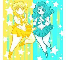 Chibi Sailor Uranus and Neptune Photographic Print