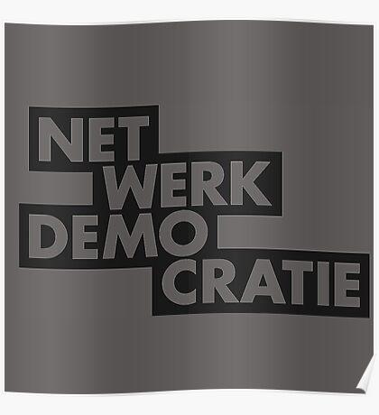 net werk demo cratie Poster