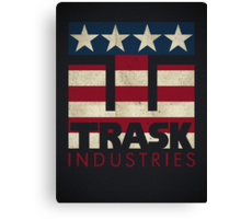 Trask Industries - Vintage Flag Canvas Print