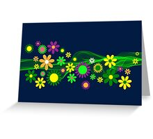 Flower Line Greeting Card
