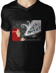 ARCANA Mens V-Neck T-Shirt