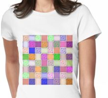 Draw the Line Womens Fitted T-Shirt