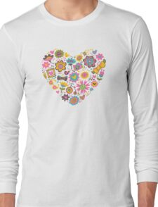 Hipster flowers Long Sleeve T-Shirt