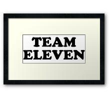 Team Eleven Framed Print