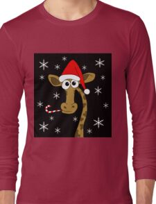 Christmas giraffe Long Sleeve T-Shirt