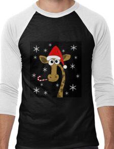 Christmas giraffe Men's Baseball ¾ T-Shirt