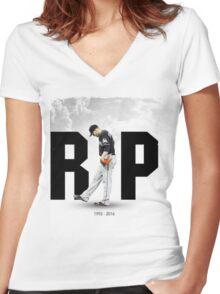 Jose Fernandez Dee Gordon Women's Fitted V-Neck T-Shirt