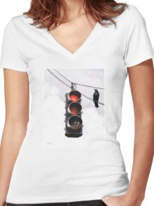 Code Red Women's Fitted V-Neck T-Shirt