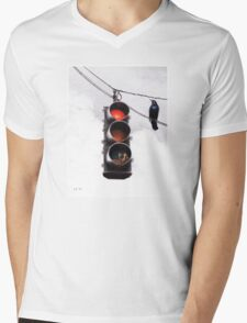 Code Red Mens V-Neck T-Shirt