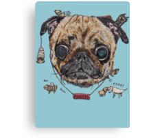 Les Pug Canvas Print