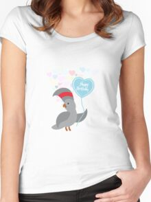 Parrot Birthday Card Women's Fitted Scoop T-Shirt
