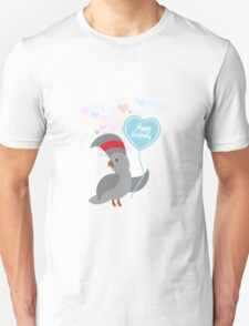 Parrot Birthday Card Unisex T-Shirt
