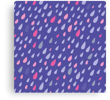 Blue Funny Drops Canvas Print