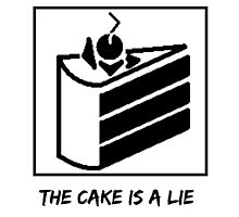 The Cake is a Lie ;( Photographic Print