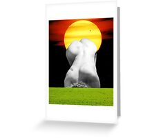 The sun shines out of behinds Greeting Card