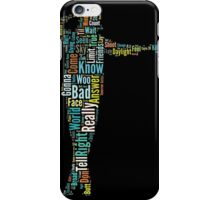 Michael Jackson Typography Poster Bad iPhone Case/Skin