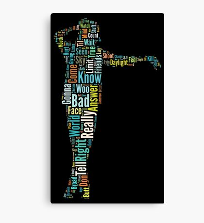 Michael Jackson Typography Poster Bad Canvas Print
