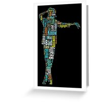 Michael Jackson Typography Poster Bad Greeting Card