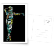 Michael Jackson Typography Poster Bad Postcards