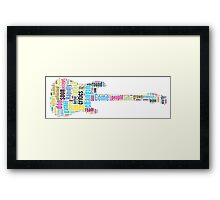 Guitar Typography Bob Dylan Times They Are A Changin Framed Print
