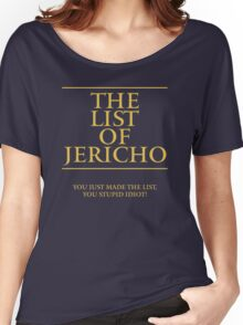 The List of Jericho Women's Relaxed Fit T-Shirt