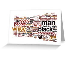 The Ballot Or The Bullet by Malcolm X Typography Art Greeting Card