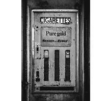 Cigarette Machine  Photographic Print
