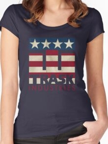 Trask Industries - Vintage Flag Women's Fitted Scoop T-Shirt