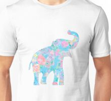 floral elephant Unisex T-Shirt