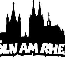 Köln am Rhein mit Dom und Groß St.Martin by theshirtshops