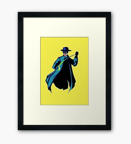 Zorro Pop Art Framed Print