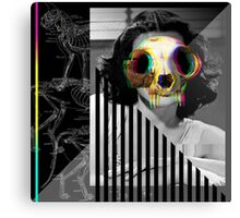 Cat Skull Hedy Lamarr Canvas Print