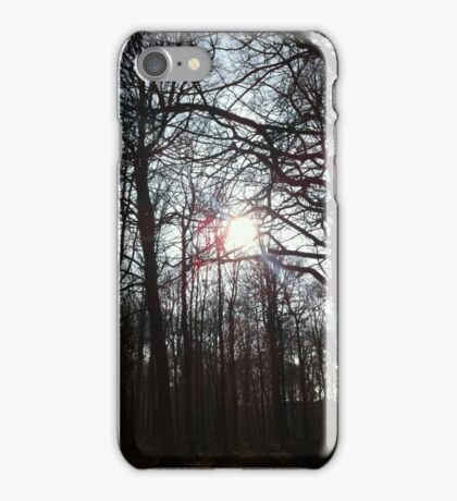 pretty afternoon trees iPhone Case/Skin