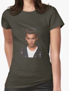 YOUNG JOHNNY DEPP Womens Fitted T-Shirt