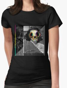 Cat Skull Hedy Lamarr Womens Fitted T-Shirt