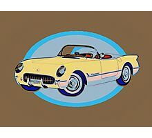 Pin Up Vette Photographic Print