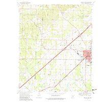USGS TOPO Map Arkansas AR Prescott West 259455 1970 24000 Photographic Print