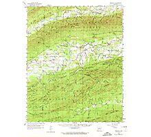 USGS TOPO Map Arkansas AR Gravelly 260076 1960 62500 Photographic Print