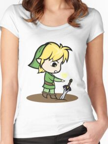 Link Legend of Zelda Women's Fitted Scoop T-Shirt