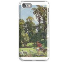 Watson, George Spencer - Mary in the gardens, Dunshay, drat them goats iPhone Case/Skin