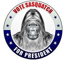 Sasquatch For President Photographic Print